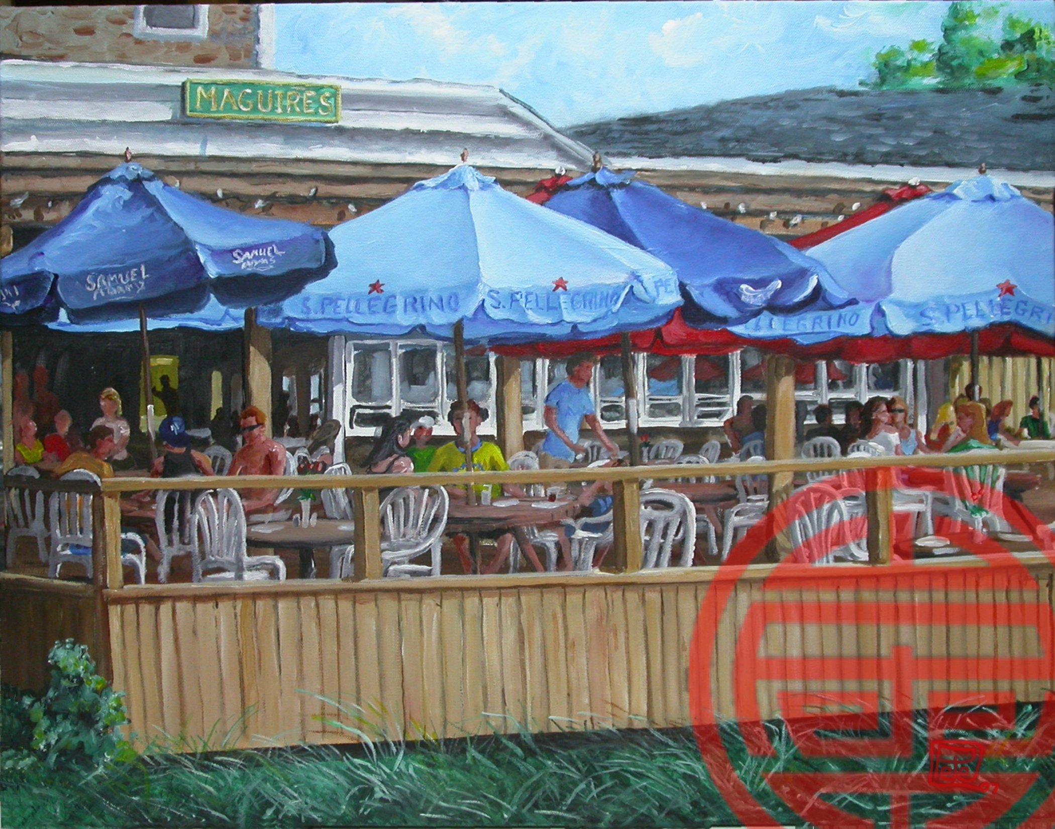 Maguires Restaurant Ocean Beach Fire Island By Peter Tartaglia